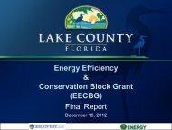 EECBG Final Report - December 18, 2012 - Lake County