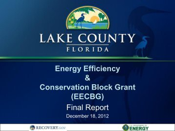 EECBG Final Report - December 18, 2012 - Lake County