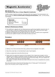 Magnetic Accelerator - Prof Bunsen