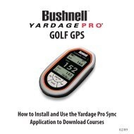 Yardage Pro Sync App-How to Install and Use for ... - Bushnell Golf