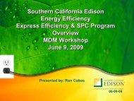Energy Efficiency Programs April 10, 2009 - Motor Decisions Matter