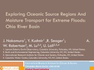 Exploring Oceanic Source Regions And Moisture Transport for ...