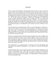 Foreword The Government of the Republic of Trinidad and Tobago ...