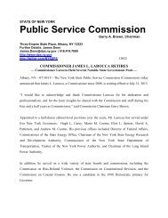 Commissioner James L. Larocca Retires - New York State Public ...