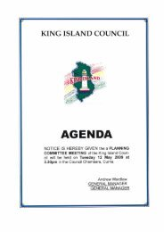 Agenda 12 May 2009 Planning Committee - King Island Council