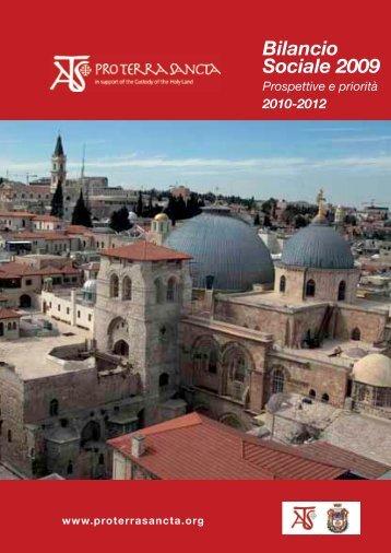 Bilancio Sociale 2009 - ATS pro Terra Sancta