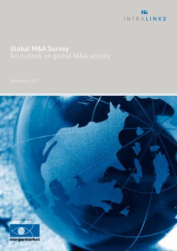 Global M&A Survey An outlook on global M&A activity - Intralinks