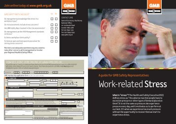 Work Related Stress - GMB Cardiff 1 County Council Branch