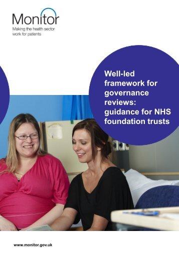 well led framework governance reviews