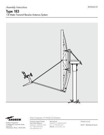1.8m Skyware global Installation Manual