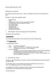 Aus dem Ortschaftsrat 26.01.2012 Einleitung des Vorsitzenden: Ein ...