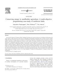 Conserving energy in smallholder agriculture: A multi-objective ...