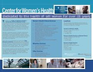 Center for Women's Health - University of Illinois College of Medicine
