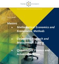 Masters • Mathematical Economics and Econometric Methods ...
