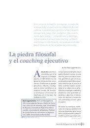 La piedra filosofal y el coaching ejecutivo - IEEM