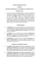 Reunión N° 1-13 Celebrada el 3 de enero de 2013 - Universidad de ...