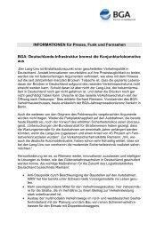 INFORMATIONEN für Presse, Funk und Fernsehen - BGA