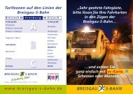 Unser Flyer zu den neuen Fahrkartenautomaten - Breisgau S-Bahn