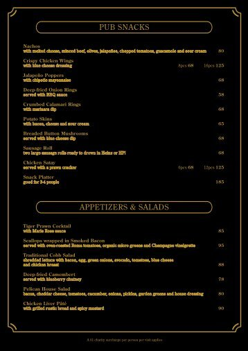 PPC food menu 201106-2 - Cafe Deco Group
