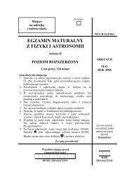 EGZAMIN MATURALNY Z FIZYKI I ASTRONOMII - Gazeta.pl