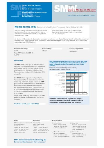Mediadaten 2013 - EMH