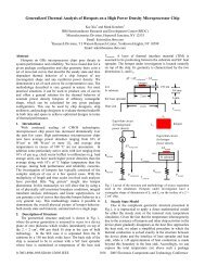 Generalized Thermal Analysis of Hotspots on a High ... - IEEE Xplore