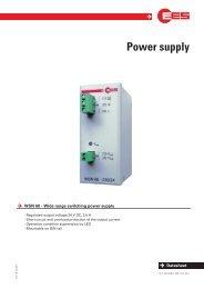 WSN60 - EES Elektra Elektronik GmbH & Co. Störcontroller KG