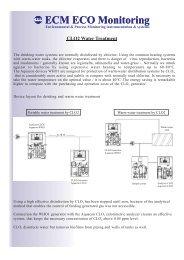 CLO2 Water Treatment - ECM ECO Monitoring