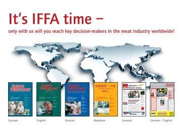 It's IFFA time - fleischwirtschaft.com - Allgemeine Fleischer Zeitung