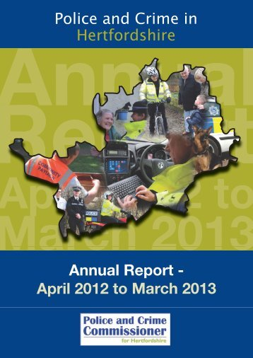 April 2012 to March 2013 - Hertfordshire Constabulary