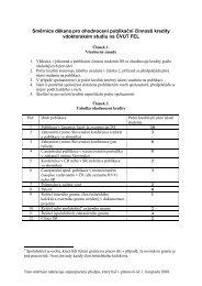 Směrnice děkana pro ohodnocení publikační činnosti kredity v ...