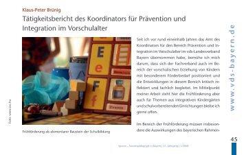 bayern .de Tätigkeitsbericht des Koordinators für Prävention und ...