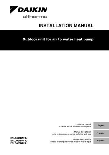 Daikin Itouch Controller installation manual on