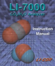 LI7000 - LI-COR