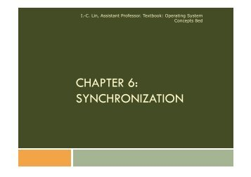 CHAPTER 6: SYNCHRONIZATION
