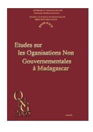 Etude sur les ONG à Madagascar (2005) - Banque centrale de ...