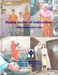 nutrition transition and double burden of malnutrition