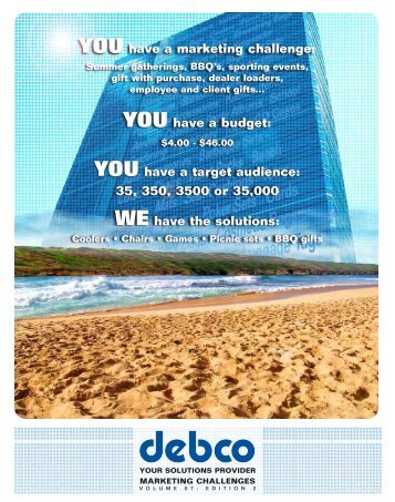 YOU have a marketing challenge - Debco Your Solutions Provider ...