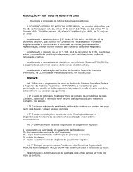 RESOLUÇÃO Nº 800, DE 05 DE AGOSTO DE 2005 ... - CRMV-PR