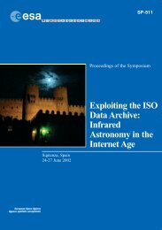 SP-511 - Expoiting the ISO Data Archive: Infrared ... - ISO - ESA