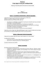 Statuts Club Alpin Français d'Albertville - Club Alpin Francais ...