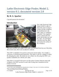 Lathe Electronic Edge Finder, Model 2, version 0.1 ... - Rick Sparber