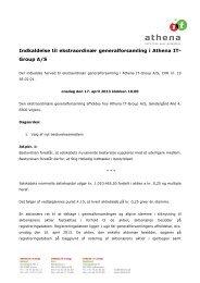 First North meddelelse nr. 108-2013 - Athena