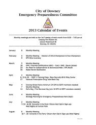 City of Downey Emergency Preparedness Committee 2013 ...