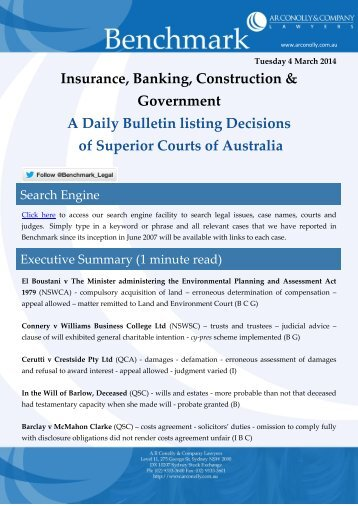 benchmark_04-03-2014_insurance_banking_construction_government