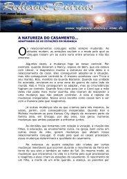 A NATUREZA DO CASAMENTO... - Reflexoes.diarias.nom.br