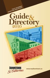 Downtown Business Directory - City of St.Catharines