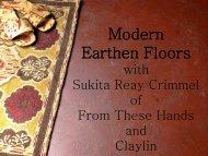 Earthen Floors 101