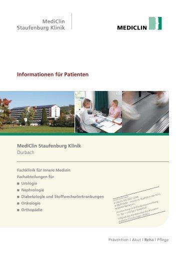 Informationen für Patienten - MediClin Staufenburg Klinik