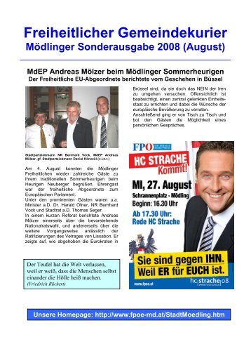 Freiheitlicher Gemeindekurier - FPÖ-Mödling